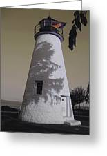 Concord Point Light Greeting Card by Gordon Beck