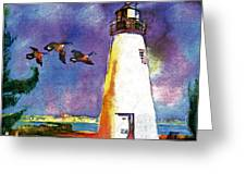Concord Point Lighthouse Greeting Card by Dean Gleisberg