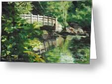 Concord River Bridge Greeting Card by Claire Gagnon