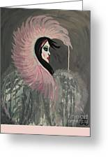 Concrete Angel Greeting Card by LKB Art and Photography