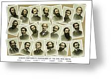 Confederate Commanders of The Civil War Greeting Card by War Is Hell Store