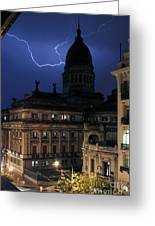 Congeso Lightning 2 Greeting Card by Balanced Art