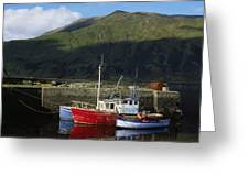 Connemara, Co Galway, Ireland Fishing Greeting Card by The Irish Image Collection