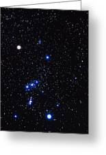 Constellation Of Orion With Halo Effect Greeting Card by John Sanford
