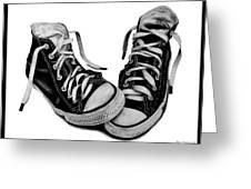 Converse Greeting Card by Kalie Hoodhood