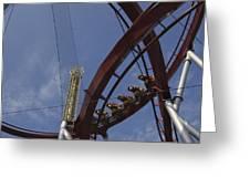 Copenhagen, Denmark, Rollercoaster Ride Greeting Card by Keenpress