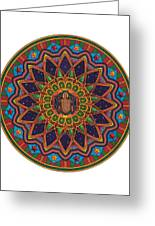 Coqui Mandala Greeting Card by Daniel Ramirez