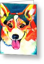 Corgi - Chance Greeting Card by Alicia VanNoy Call