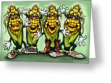 Corn Party Greeting Card by Kevin Middleton