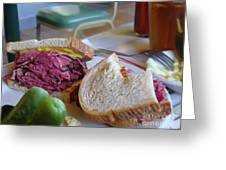Corned Beef On Rye Greeting Card by Jeff Breiman