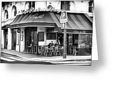 Corner Cafe Greeting Card by John Rizzuto