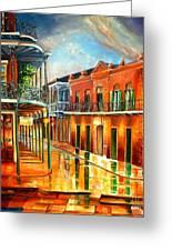 Corner Of Jackson Square Greeting Card by Diane Millsap