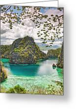 Coron Lagoon Greeting Card by MotHaiBaPhoto Prints