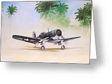 Corsair Preflight Greeting Card by Marc Stewart