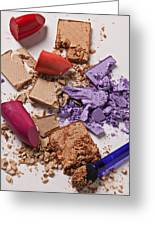 Cosmetics Mess Greeting Card by Garry Gay