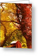 Cosy Shed Greeting Card by Svetlana Sewell