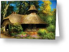 Cottage - A Little Dutch House Greeting Card by Mike Savad