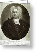 Cotton Mather 1663-1728 Greeting Card by Granger