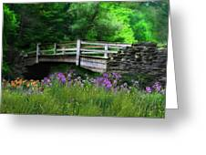Country Bridge Greeting Card by Lori Deiter