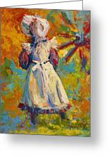 Country Girl Greeting Card by Marion Rose