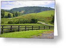 Country Lane Greeting Card by Julie Lueders