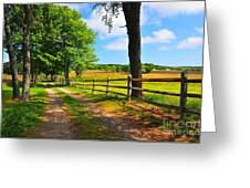 Country Road Greeting Card by Catherine Reusch  Daley