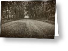 Country Road Greeting Card by Everet Regal