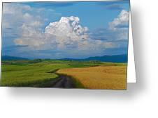 Country road Greeting Card by Pavel  Filatov