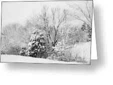 Country Winter Greeting Card by Kathy Jennings