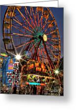 County Fair Ferris Wheel Greeting Card by Corky Willis Atlanta Photography