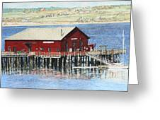 Coupeville Wharf Greeting Card by Perry Woodfin