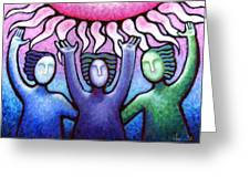 Courage Clarity And Communication Greeting Card by Angela Treat Lyon