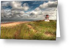 Covehead Lighthouse Greeting Card by Elisabeth Van Eyken