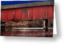 Covered Bridge Greeting Card by Michael L Kimble