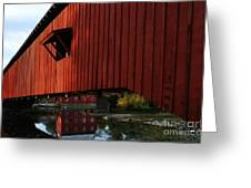 Covered Bridge Reflections Greeting Card by Mel Steinhauer