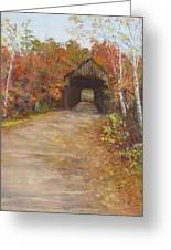 Covered Bridge  Southern Nh Greeting Card by Jack Skinner