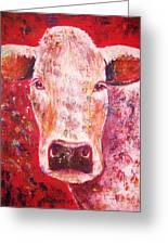 Cow Greeting Card by Anastasis  Anastasi