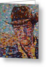 Cowboy Elvis Greeting Card by Denise Landis