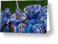 Cowboy Huddle Greeting Card by Steven Richardson
