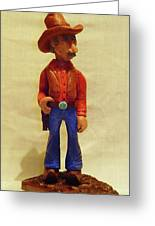 Cowboy Rancher Greeting Card by Russell Ellingsworth