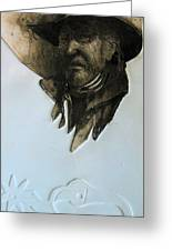 Cowboy Greeting Card by Robert Carver