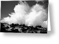 Crashing Wave - Bw Greeting Card by Dana Edmunds - Printscapes