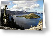 Crater Lake - Intense Blue Waters And Spectacular Views Greeting Card by Christine Till
