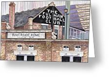 Craven Cottage Greeting Card by Scott Nelson