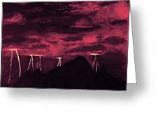 Crimson Storm Greeting Card by Dawn Hay