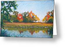 Crisp Autumn Morning Spears Woods Greeting Card by Christine Camp