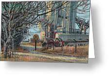 Crossing Ahead Greeting Card by Donald Maier