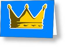 Crown Graphic Design Greeting Card by Pixel Chimp