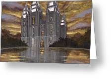 Crowned with Glory Greeting Card by Jeff Brimley