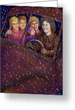Cruisin' With The Big Kids Greeting Card by Dawn Senior-Trask